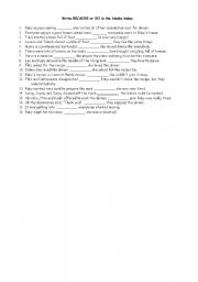 English Worksheets: linkings