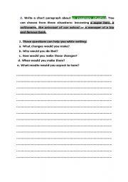 English Worksheets: writing text