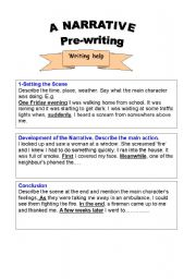English Worksheets: narrative writing text