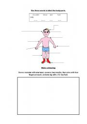 English Worksheets: Matching & Drawing bp