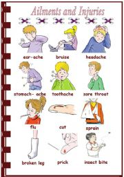 English Worksheet: Ailments and Injuries