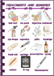English Worksheet: Treatments and Remedies