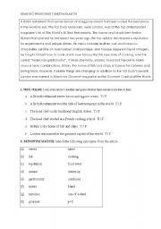 English Worksheets: Restaurants