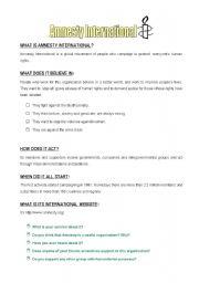 English Worksheets: Amnesty International