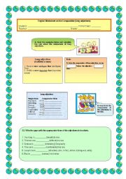 English Worksheet: Comparison of Adjectives (long adjectives)