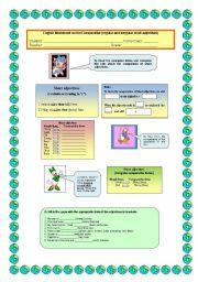 English Worksheet: Comparison of adjectives (short regular and irregular)