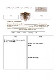 English Worksheets: Why January is called January.