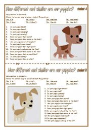 English Worksheets: ARE OUR PUPPIES TWINS?