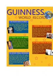 English Worksheets: Guinness World Records - Part 2