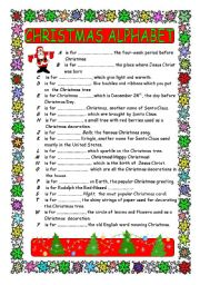 CHRISTMAS ALPHABET - worksheet by skwarka