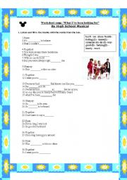 English Worksheets: high school musical song