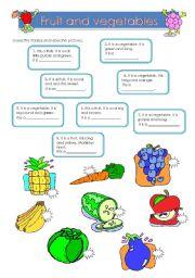 fruit and vegetables riddles esl worksheet by non77. Black Bedroom Furniture Sets. Home Design Ideas