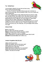 English Worksheets: faithful parrot