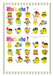 English Worksheets: WHO�S WHO ? face pairwork !!!!!!!!!!!!!!!!!!!!!!!!!!!!!!!!!!!!!!!!! # 2
