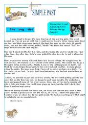 english worksheets the dog sled. Black Bedroom Furniture Sets. Home Design Ideas
