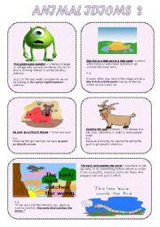 English Worksheet: Animal idioms 2