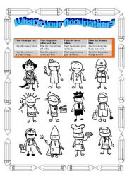 English Worksheets: What�s your occupation?