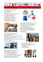 English teaching worksheets  British culture