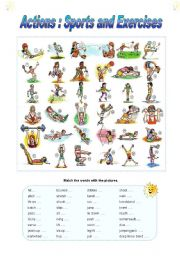English Worksheets: Actions : Sports and Exercises