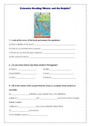 English Worksheets: Extensive Reading - Maisie and the dolphin - page 1 / 7