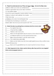 English Worksheet: Extensive Reading - Maisie and the dolphin - page 3/7