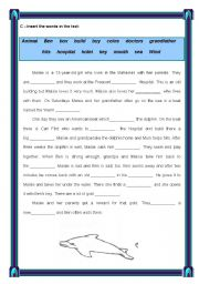 English Worksheet: Extensive Reading - Maisie and the dolphin - page 5 / 7