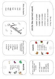 articles mini work book for juniors