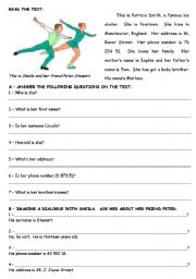 Test - 5th grade - ESL worksheet by atsitab