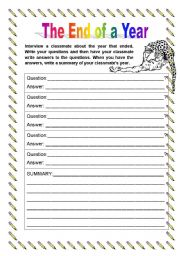 English Worksheets: Interview: