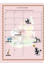 English worksheet: animal alphabet
