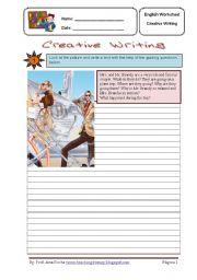 English Worksheets: creative writing 4