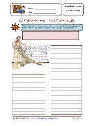 English Worksheets: Creative Writing 5