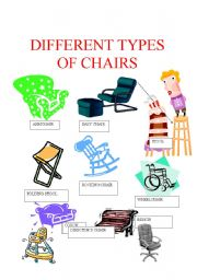 PICTIONARY: DIFFERENT TYPES OF CHAIRS