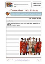 English Worksheets: Creative Writing  6