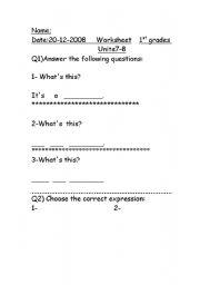 English Worksheets: using