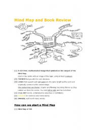 English Worksheet: Creative Writing: Book Review and Mind Map