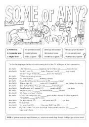 English Worksheet: Some or Any?