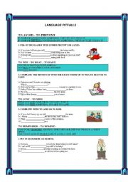 English Worksheets: LANGUAGE PITFALLS