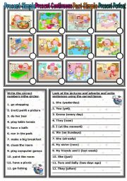 English Worksheets: 4 TENSES