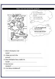 English Worksheets: Interactive Reading/Writing Activity