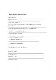 english worksheets tell us about yourself worksheet. Black Bedroom Furniture Sets. Home Design Ideas