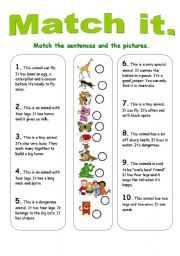 English Worksheets: Match it.