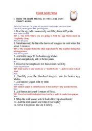 English worksheet: Adverbs-Cooking extra worksheet