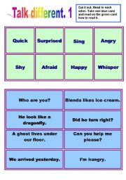 English Worksheets: Talk different