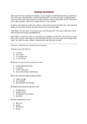 English Worksheets: Drawing Conclusions