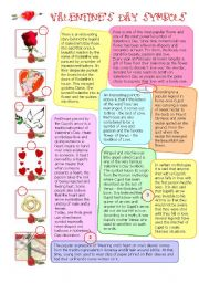 English Worksheet: VALENTINE´S DAY: SYMBOLS