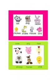 English Worksheets: pets & farm animals