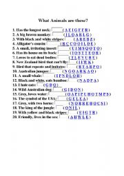 English Worksheets: what animals are these