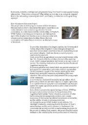 English Worksheets: ecotourism