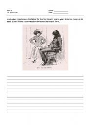 English Worksheets: Huck and his father